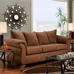 Chelsea Payton Polyester Sofa in Chocolate