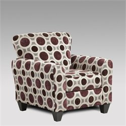 Chelsea Worcester Accent Chair in Mulberry