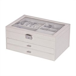 Mele Alana Jewelry Box with Lock in Pearl