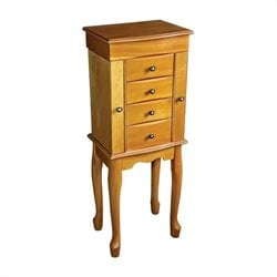 Mele and Co. Celina Jewelry Armoire in Oak
