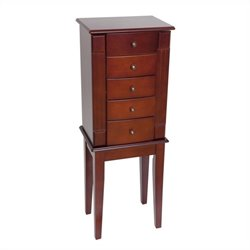 Mele and Co. Addison Jewelry Armoire in Walnut