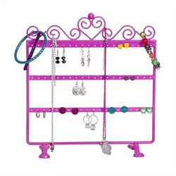 Mele Kara Scroll and Heart Jewelry Stand in Pink