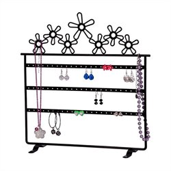 Mele Flora Daisies Jewelry Stand in Black