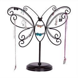 Mele Bella Butterfly Jewelry Stand in Black