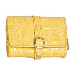 Mele Jade Travel Jewelry Wallet in Yellow