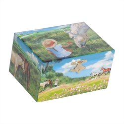 Mele Apple Girl's Musical Horse Jewelry Box