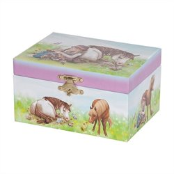 Mele Blossom Girl's Musical Horse Jewelry Box