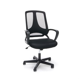 Essentials Swivel Mesh Office Chair with Arms in Black