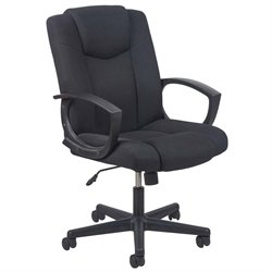 OFM Essentials Swivel Upholstered Office Chair in Black