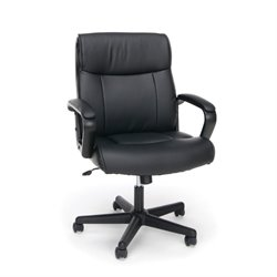 Essentials Leather Executive Office Chair in Black