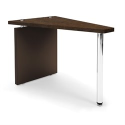 OFM Profile Series Reception End Table in Windswept Bronze and Brown