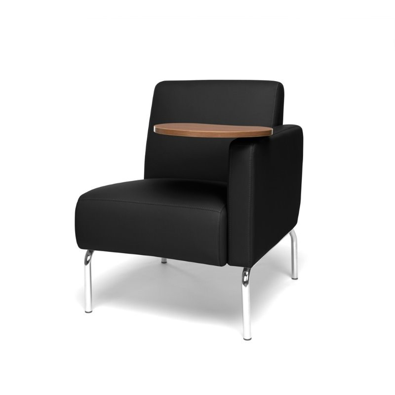 OFM Triumph Left Arm Tablet Guest Chair in Black and Bronze
