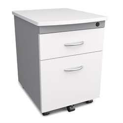 OFM Modular 2 Drawer Mobile Pedestal in White