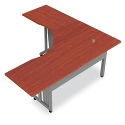 OFM L Shaped Workstation in Cherry