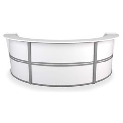 Marque Series Curved Reception Desk in White