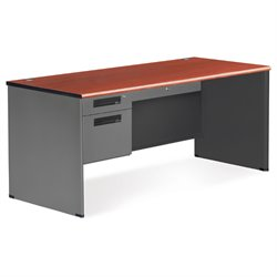 OFM Executive Desk Shell with Right Return in Cherry