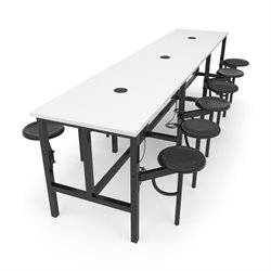 OFM Endure Series Standing Height 12 Person Table in White