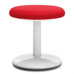 OFM Orbit Fabric Active Stool in Red