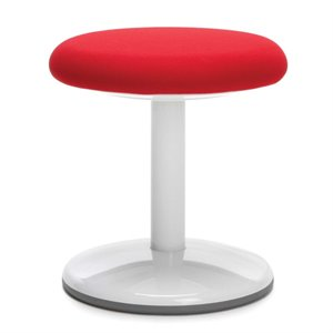 OFM Orbit Fabric Static Stool in Red
