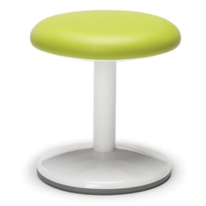 OFM Orbit Faux Leather Static Stool in Green