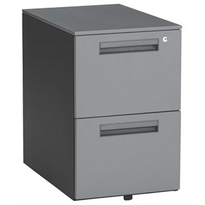 OFM Mesa Mobile Pedestal File Cabinet in Gray