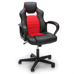 OFM Essentials Leather Racing Style Swivel Gaming Chair (A)