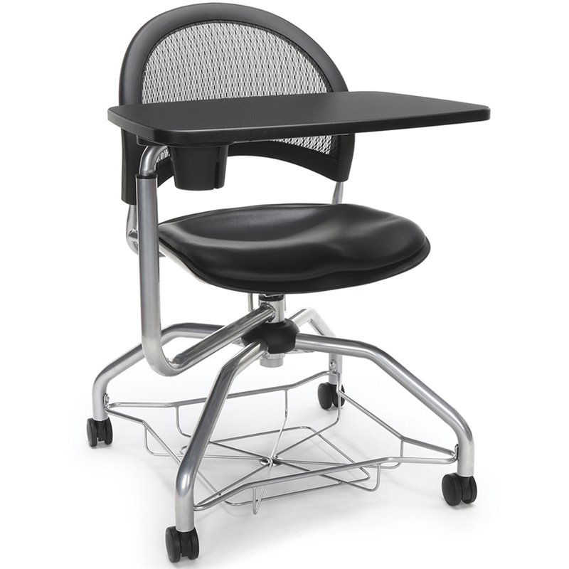 OFM Moon Foresee Right Hand Tablet Classroom Chair in Black