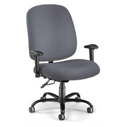 OFM Big and Tall Office Chair with Arms in Gray