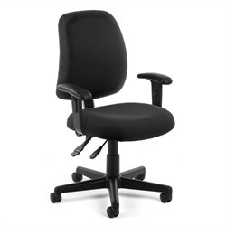 OFM Posture Task Office Chair With Arms in Black