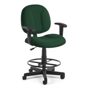 Office Chair with Arms and Drafting Kit in Green