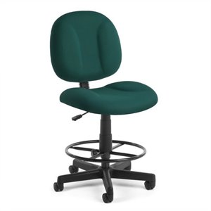 Office Chair with Drafting Kit in Teal