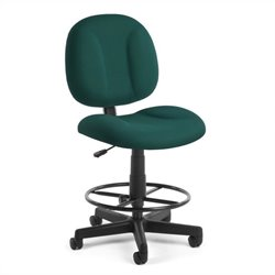 OFM Comfort Series SuperDrafting Office Chair with Drafting Kit in Teal