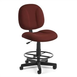 OFM Comfort Series SuperDrafting Office Chair with Drafting Kit in Wine