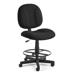 Office Chair with Drafting Kit in Black