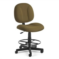 OFM Comfort Series SuperDrafting Office Chair with Drafting Kit in Taupe
