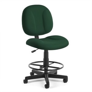 Office Chair with Drafting Kit in Green