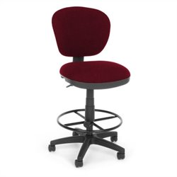 OFM Lite Use Computer Chair with Drafting Kit in Burgundy