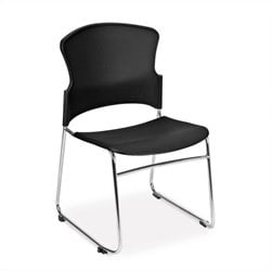 OFM Multi-Use Plastic Seat and Back Stacker in Black