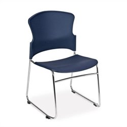 OFM Multi-Use Plastic Seat and Back Stacker in Navy