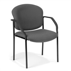 OFM Deluxe Stacking Guest Stacking Chair in Gray