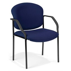 OFM Deluxe Stacking Guest Stacking Chair in Navy