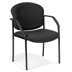 OFM Deluxe Stacking Guest Chair in Black