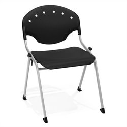 OFM Stack Chair No Arms in Silver and Black