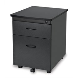 Mobile Pedestal File Box in Graphite