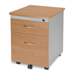 OFM Mobile Pedestal File Box in Maple