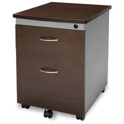 OFM Mobile Pedestal File Box in Walnut