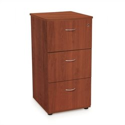 Three-Drawer File With Lock in Cherry