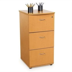 OFM Milano Three-Drawer File With Lock in Maple