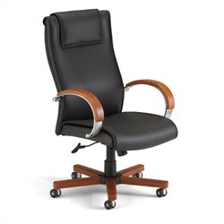OFM Apex Executive Hi-Back Leather Chair in Cherry