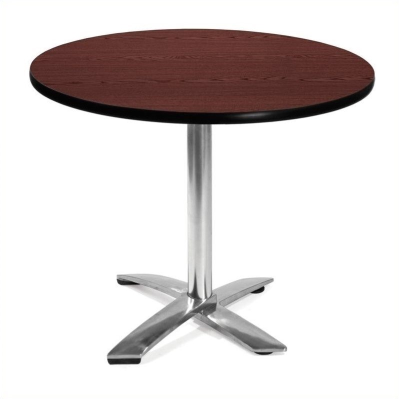 OFM 36 Round Folding Table in Mahogany
